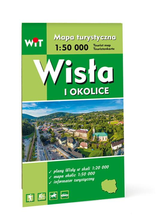 Wisla Mapa Miejscowosci Szlaki Turystyczne Wycieczki Rowerowe